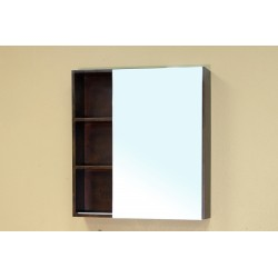 Bellaterra 203132 Solid Wood Frame Mirror Cabinet - Walnut - 29.5x5.8x31.5""