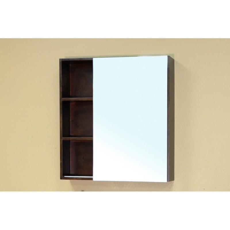 Solid Wood Kitchen Walnut Cabinets: Bellaterra 203132 Solid Wood Frame Mirror Cabinet