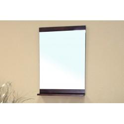 "Bellaterra 203136 Solid Wood Frame Mirror Cabinet - Walnut - 22x4x31.5"""