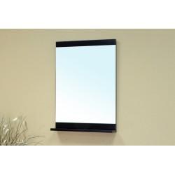 "Bellaterra 203172 Solid Wood Frame Mirror Cabinet - Black - 22x4.7x31.5"""