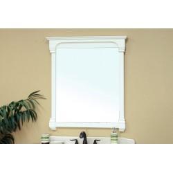 "Bellaterra 205050 42 In Solid Wood Frame Mirror - Cream White - 42x2.4x41.5"""