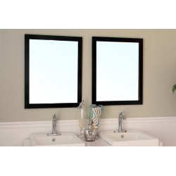"Bellaterra 804375 23.6 In Mirror - Black - Wood - 26x1x31.5"""