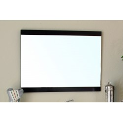 "Bellaterra 804380 37.4 In Mirror - Dark Walnut - Wood - 37.4x1x23.6"""