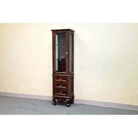 "Bellaterra 202016H Linen Cabinet-Wood-Walnut - 17.3x14x66.1"""