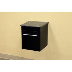 """Bellaterra 203108 Solid Wood Wall Mount Style Side Cabinet-Black - 15x13.8x16.25"""""""