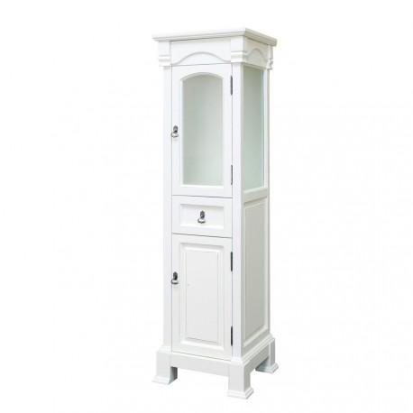 """Bellaterra 205065 Linen Cabinet-Wood-Cream White - 18x16.3x65"""""""