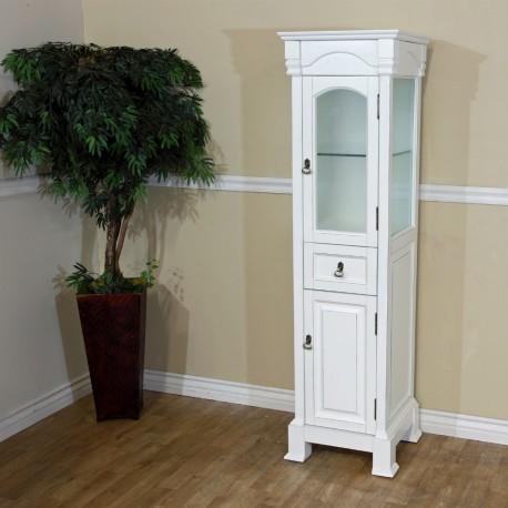"Bellaterra 205065 Linen Cabinet-Wood-White - 18x16.3x65"""