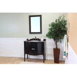 Bellaterra 203037 36.6 In Single Sink Vanity-Wood-Black - 36.6x22x36""