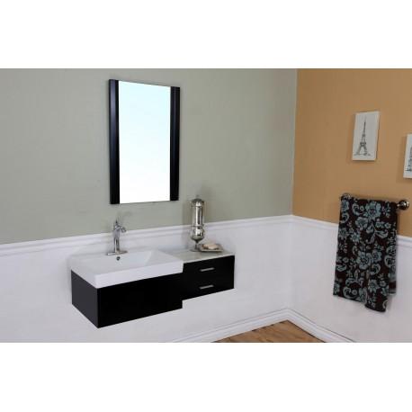 Bellaterra 203105 45 8 In Single Sink Vanity Wood Black