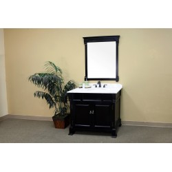 Bellaterra 205042 42 In Single Sink Vanity-Wood-Espresso - 42x22.5x35.5""