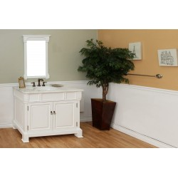 Bellaterra 205042 42 In Single Sink Vanity-Wood-White - 42x22.5x35.5""