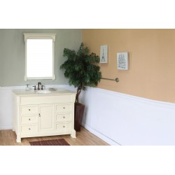 Bellaterra 205050 50 In Single Sink Vanity-Wood-Cream White - 50x22.5x35.5""