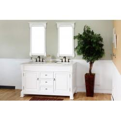 "Bellaterra 205060 60 In Double Sink Vanity-Wood-White - 60x22.5x35.5"""