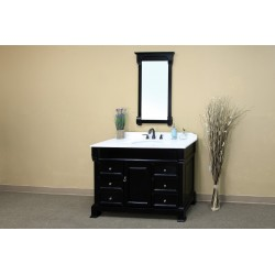 Bellaterra 205060 60 In Single Sink Vanity-Wood-Espresso - 60x22.5x35.5""