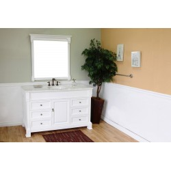 Bellaterra 205060 60 In Single Sink Vanity-Wood-White - 60x22.5x35.5""
