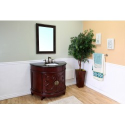 Bellaterra 600144 42 In Single Sink Vanity-Colonial Cherry-Wood - 42x22x36""