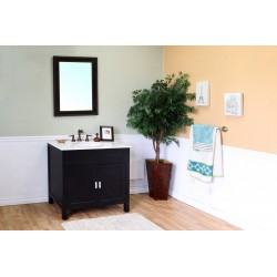 Bellaterra 600168 36 In Single Sink Vanity-Wood-Ebony - 36x22x36""