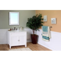 Bellaterra 600168 36 In Single Sink Vanity-Wood-White - 36x22x36""