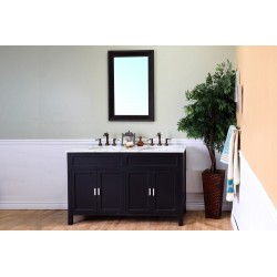 Bellaterra 600168 60 In Double Sink Vanity-Wood-Ebony - 60x22x36""