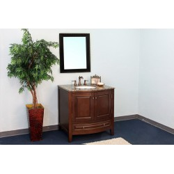 Bellaterra 602205 36 In Single Sink Vanity-Wood-Dark Walnut - 36x22x36""