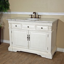 Bellaterra 602208 50 In Single Sink Vanity-Wood-Antique White - 50x22x36""