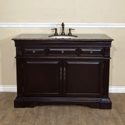 Bellaterra 602208 50 In Single Sink Vanity-Wood-Dark Mahogany - 50x22x36""