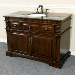 Bellaterra 602208 50 In Single Sink Vanity-Wood-Dark Walnut - 50x22x36""