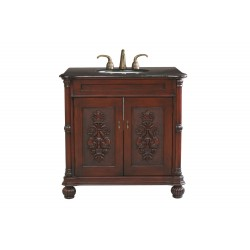 Bellaterra 602335 36 In Single Sink Vanity-Wood-Colonial Cherry - 36x22x36""