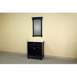 Bellaterra 603215 32 In Single Sink Vanity-Wood-Ebony - 32x22x36""