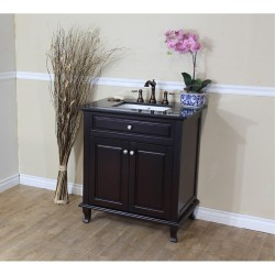 Bellaterra 603215 32 In Single Sink Vanity-Dark Mahogany - 32x22x36""