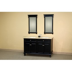 Bellaterra 603215 62 In Double Sink Vanity-Wood-Ebony - 62x22x36""