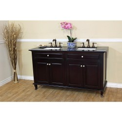 Bellaterra 603215 62 In Double Sink Vanity-Dark Mahogany - 62x22x36""