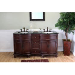 Bellaterra 603316 62 In Double Sink Vanity-Wood-Colonial Cherry - 62x22x36""