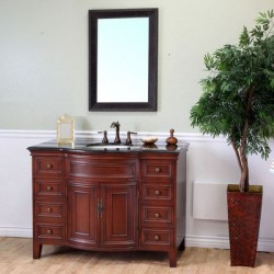 Bellaterra 605115 48 In Single Sink Vanity-Wood-Light Walnut - 48x22x36""