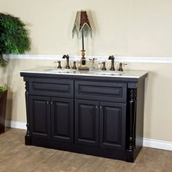 Bellaterra 605522A 55 In Double Sink Vanity - 55x22x36""