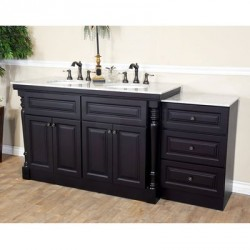 Bellaterra 605522B 74 In Double Sink Vanity - 74x22x36""