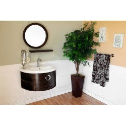 Bellaterra 804338 34 In Single Vanity-Wood-Ebony-Zebra - 34x19.7x17.7""