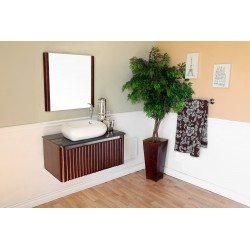 Bellaterra 804347 32.5 In Single Sink Vanity-Wood-Walnut - 32.5x19.25x20.5""