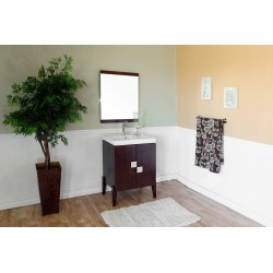 Bellaterra 804366 25 In Single Sink Vanity-Wood-Walnut - 25x16x36""