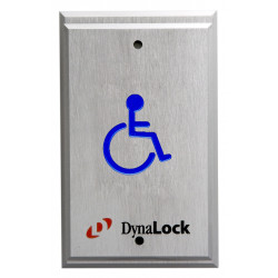 DynaLock 6700 Series Handicapped Push Plates Single Gang