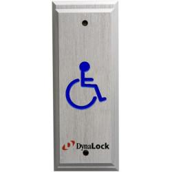 DynaLock 6800 Series Handicapped Push Plates Narrow
