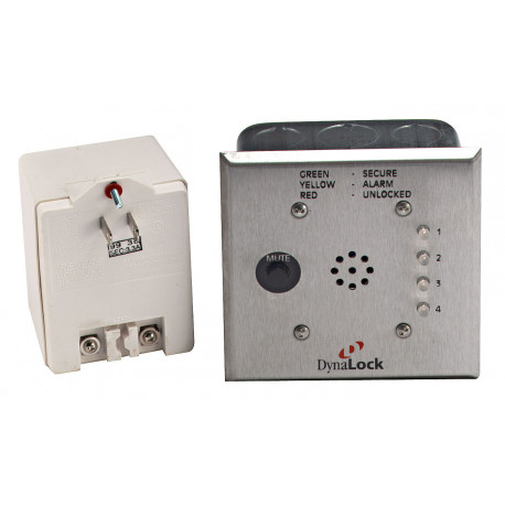 DynaLock 6350 Four-Zone Monitor Station for Delayed Egress Systems, Includes (1) 5312