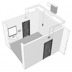 DynaLock 8500 Two-Door Communicating Bathroom System