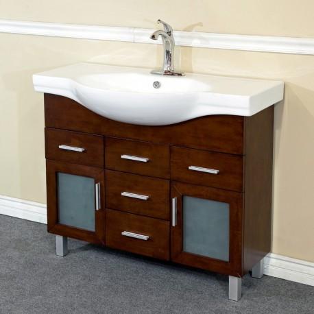 Bellaterra 203139b 39 8 In Single Sink Vanity Wood Walnut