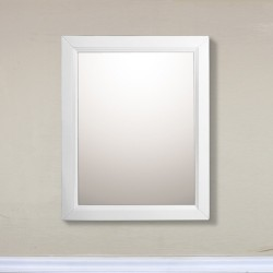 Bellaterra 7611 24 In Mirror Cabinet-Wood-White - 24x5.90x30""