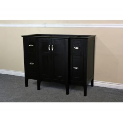 Bellaterra 7614 44 In Single Sink Vanity-Wood-Sable Walnut Cabinet Only - 44x21.7x34.5""