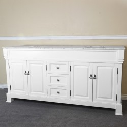 Bellaterra 205072 72 In Double Sink Vanity, White - 72x22.5x35.5""