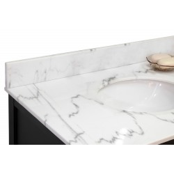 "Bellaterra 600168 Backsplash-White Marble-60"" - 59x0.75x4"""