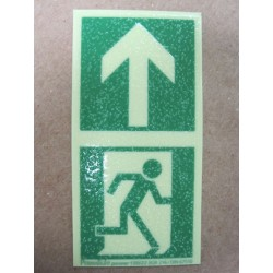 American Permalight 83-40129 Safety Marker Anti-Skid for floors: Polycarbonate Man + Arrow Self-adhesive Power