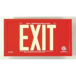 American Permalight UL924 ETL-listed Aluminum EXIT Signs Framed